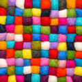 Color wool background - balls of synthetic wool yarn Royalty Free Stock Photo