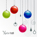 Color Xmas balls Stock Images