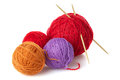 Color yarn balls Royalty Free Stock Photo