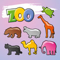 Color_Zoo_Vector Royalty Free Stock Photography