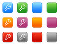 Colora teclas com ícone chave Fotos de Stock Royalty Free
