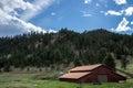 Colorado Farm Ranch in Mountains Royalty Free Stock Photo