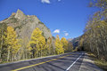 Colorado Mountain Highway in Fall Stock Photo