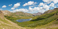 Colorado Mountain Lake Panorama Royalty Free Stock Images