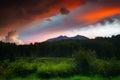 A Colorado Mountain Sunset Royalty Free Stock Photo