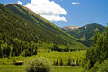 Colorado Mountain Valley - 1 Stock Image