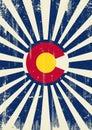Colorado retro sunbeams Royalty Free Stock Photo
