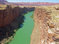Colorado River as seen from Navajo Bridge. Royalty Free Stock Photo