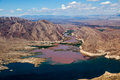 Colorado River joins Lake Mead Royalty Free Stock Photo