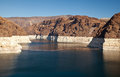 Colorado river lake meade close to hoover dam scenic landscape vista Stock Photos