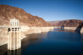 Colorado river lake meade close to hoover dam scenic landscape vista Royalty Free Stock Image