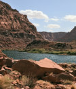 The Colorado River in the steep banks Stock Photos