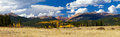 Colorado rocky mountain fall panoramic landscape view of the mountains in kenosha pass Royalty Free Stock Photography