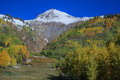 Colorado rocky mountains in fall a colorful scenic landscape of a Royalty Free Stock Photo