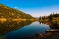 Colorado San Cristobal Lake reflection Royalty Free Stock Photo