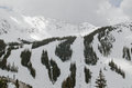 Colorado ski slopes in keystone resort in usa Stock Image