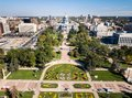 Colorado State Capitol building in Denver aerial Royalty Free Stock Photo