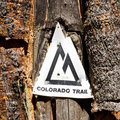 Colorado Trail Marker Royalty Free Stock Images