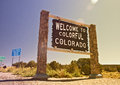 Colorado USA, Welcome sign Royalty Free Stock Photo