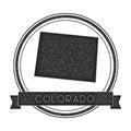 Colorado vector map stamp.