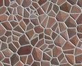 Colore marrone approssimativo del reticolo della parete di pietra Fotografia Stock Libera da Diritti