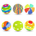 Colored 3d spheres Royalty Free Stock Image