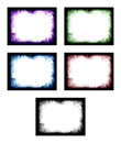 Colored abstract frame set of pattern background elements Royalty Free Stock Photos