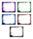 Colored abstract frame set of pattern background elements Stock Photo