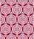 Colored abstract interweave geometric seamless pattern bright illusory backdrop with three dimensional intertwine figures graphic Royalty Free Stock Photography