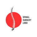 Colored abstract spinal surgery logo