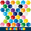 Colored Alphabet Cubes Royalty Free Stock Photo