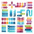 stock image of  Colored arrows for business presentations. Vector collection of infographic elements