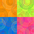 Colored backgrounds with circles Stock Photo