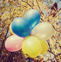 Colored ballons vintage retro style Royalty Free Stock Photo