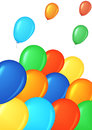 Colored balloons. Stock Images