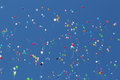 Colored balloons on a blue sky Royalty Free Stock Photo