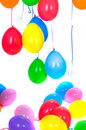 Colored balloons isolated on white Royalty Free Stock Photos