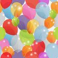 Colored balloons seamless pattern, vector Stock Photos