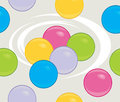Colored balls seamless background illustration Stock Photos
