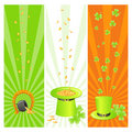 Colored banners with st. patrick day's symbols Stock Photography