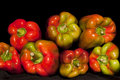 Colored big sweet pepper Royalty Free Stock Photo