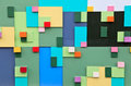 Colored blocks background Stock Photography