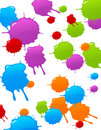 Colored blot background Stock Images