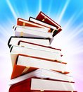 Colored books on background Stock Photography