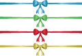 Colored bows on white background Royalty Free Stock Photo