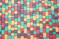 Colored brick background of walkway Stock Images