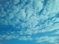Colored bright blue clouds for backgrounds or postcards