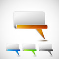 Colored bubble talk illustration of talks with inset Royalty Free Stock Photography