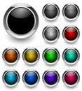 Colored button set Stock Photography