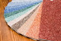 Colored carpet samples Royalty Free Stock Images
